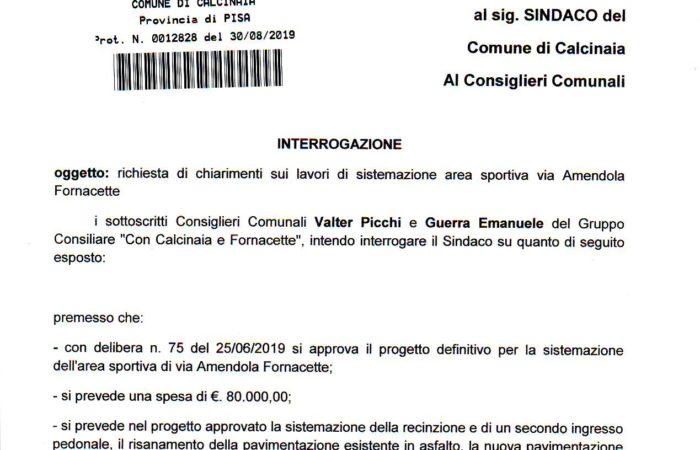 """""""CAMPINO"""" DELLE MEDIE A FORNACETTE, SOLDI PUBBLICI SPESI MALE"""
